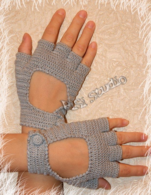 Вязания перчаток без палец 341